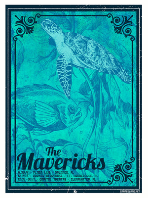 2017 Mavericks Florida Tour Poster