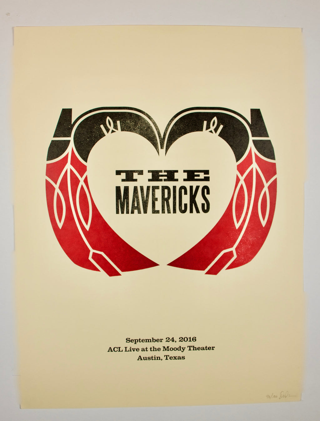 "2016 ACL Live ATX Poster - ""Heart Shaped Boots"""