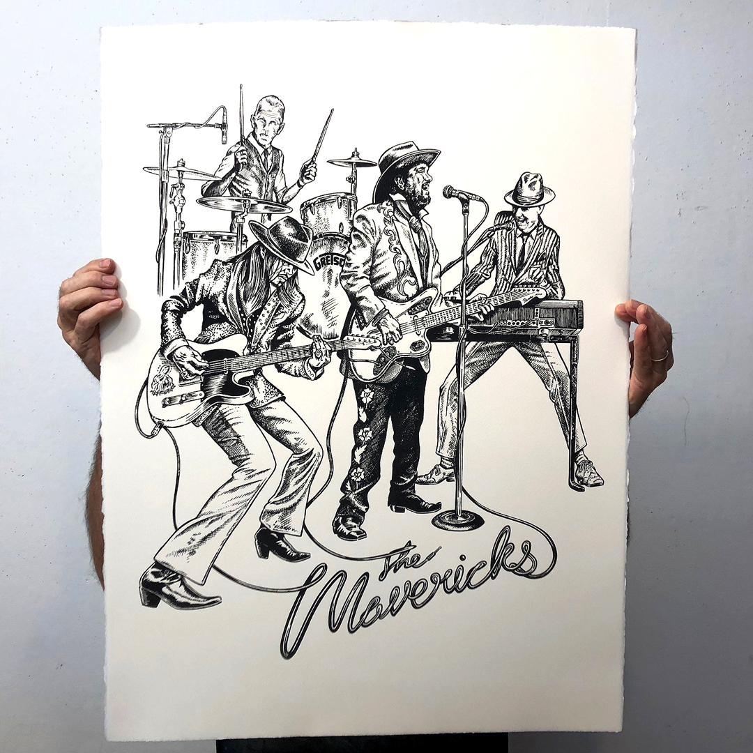 'The Mavericks Live' Limited Edition Lithograph