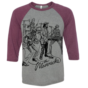'The Mavericks Live' 3/4 Sleeve Shirt + Digital Download