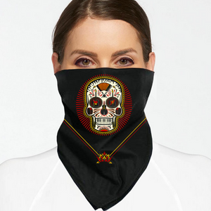 Mavericks Skull Face Mask / Bandana + Digital Download