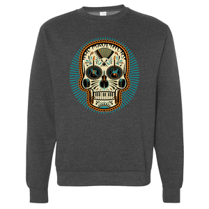 Heather Charcoal Ray Skull Sweatshirt