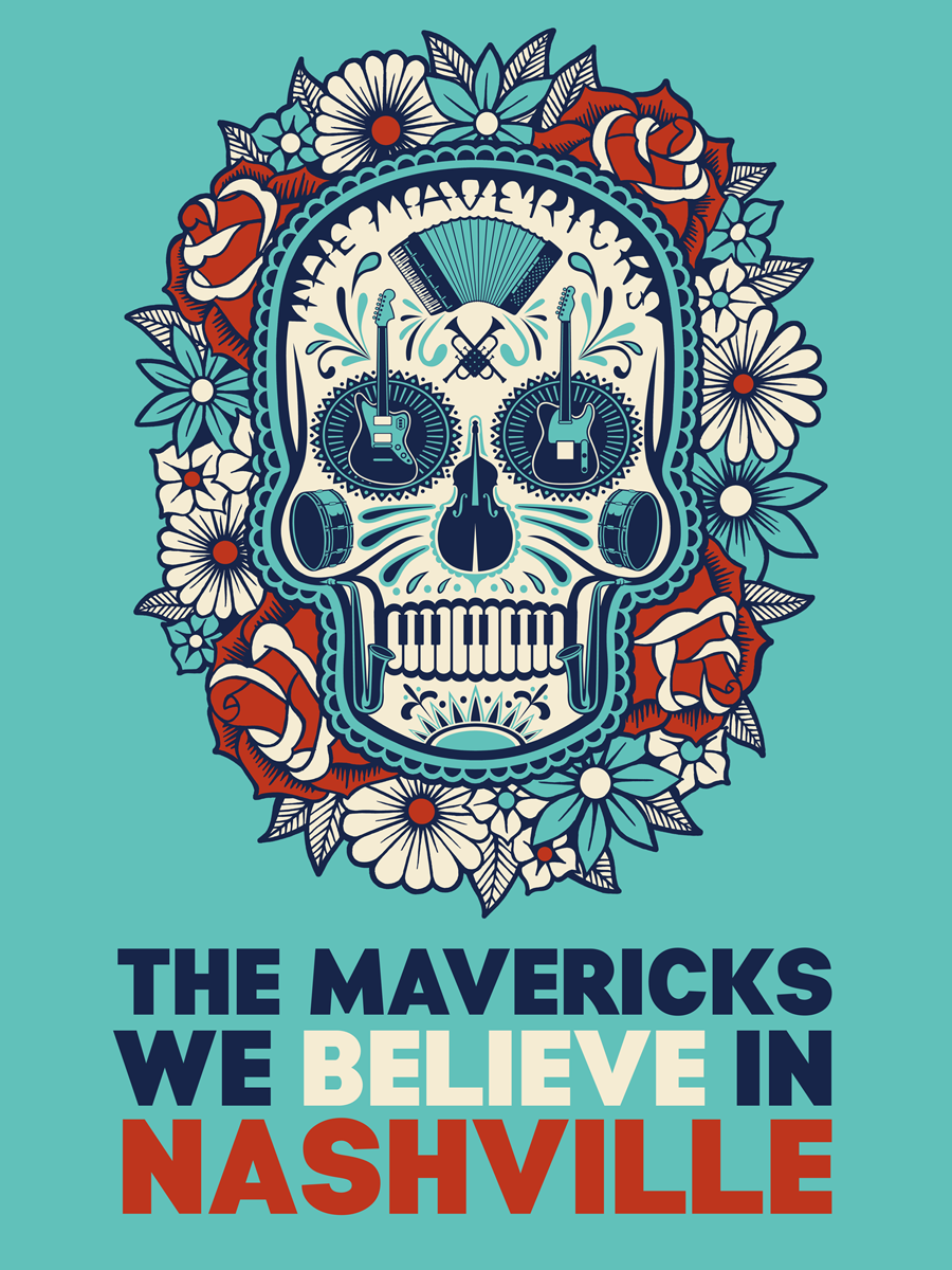 The Mavericks Nashville Relief Poster (Pre-Order)