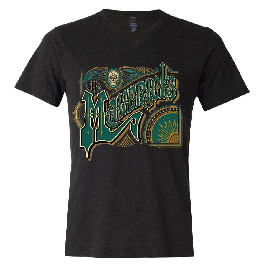 Spanish Mavericks V Neck T-Shirt