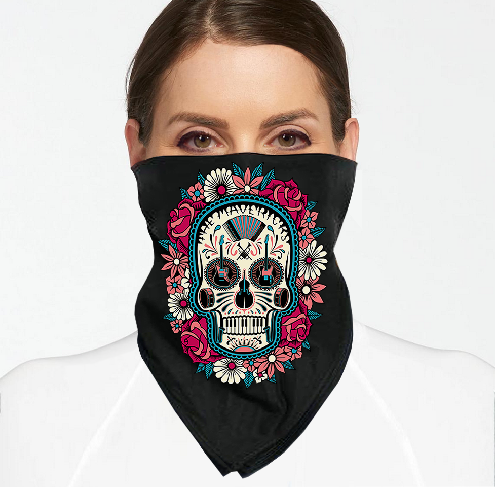 Spanish Skull Face Mask / Bandana + Digital Download