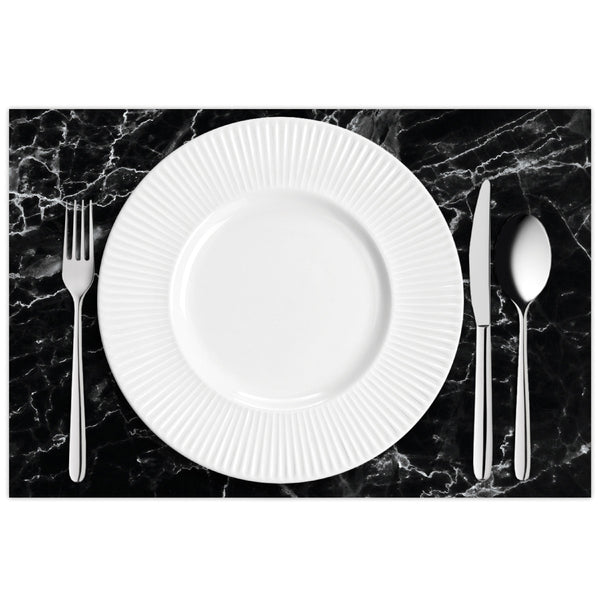 Black Marble Placemat Pads