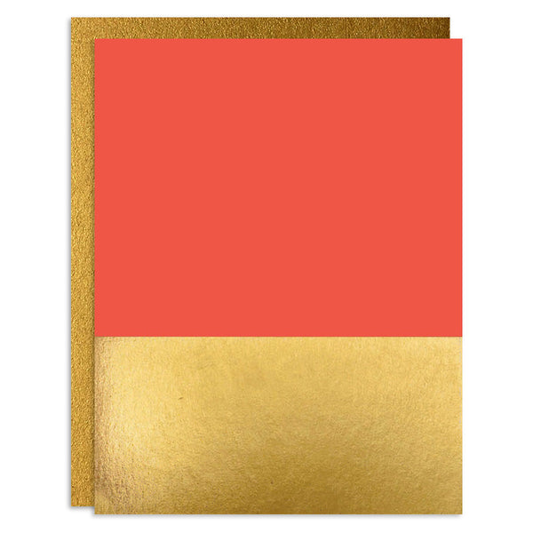Fiery Red Foiled Greeting Card Set
