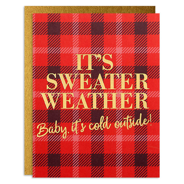 It's Sweater Weather Red Plaid