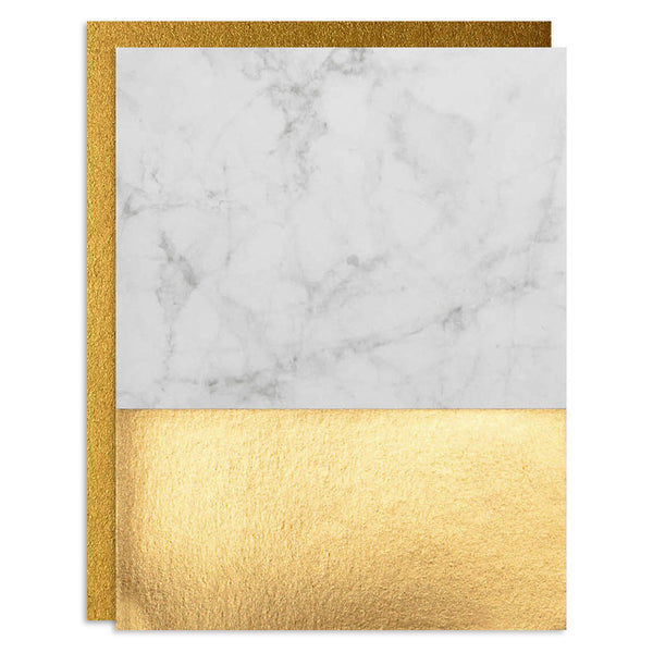 Marble Foil Greeting Card Set