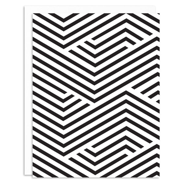 Geometric Black Greeting Card Set