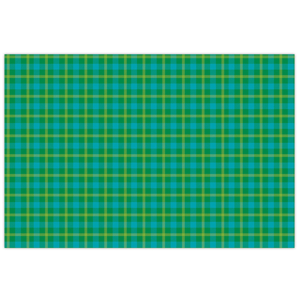 Green Plaid Placemat Pads