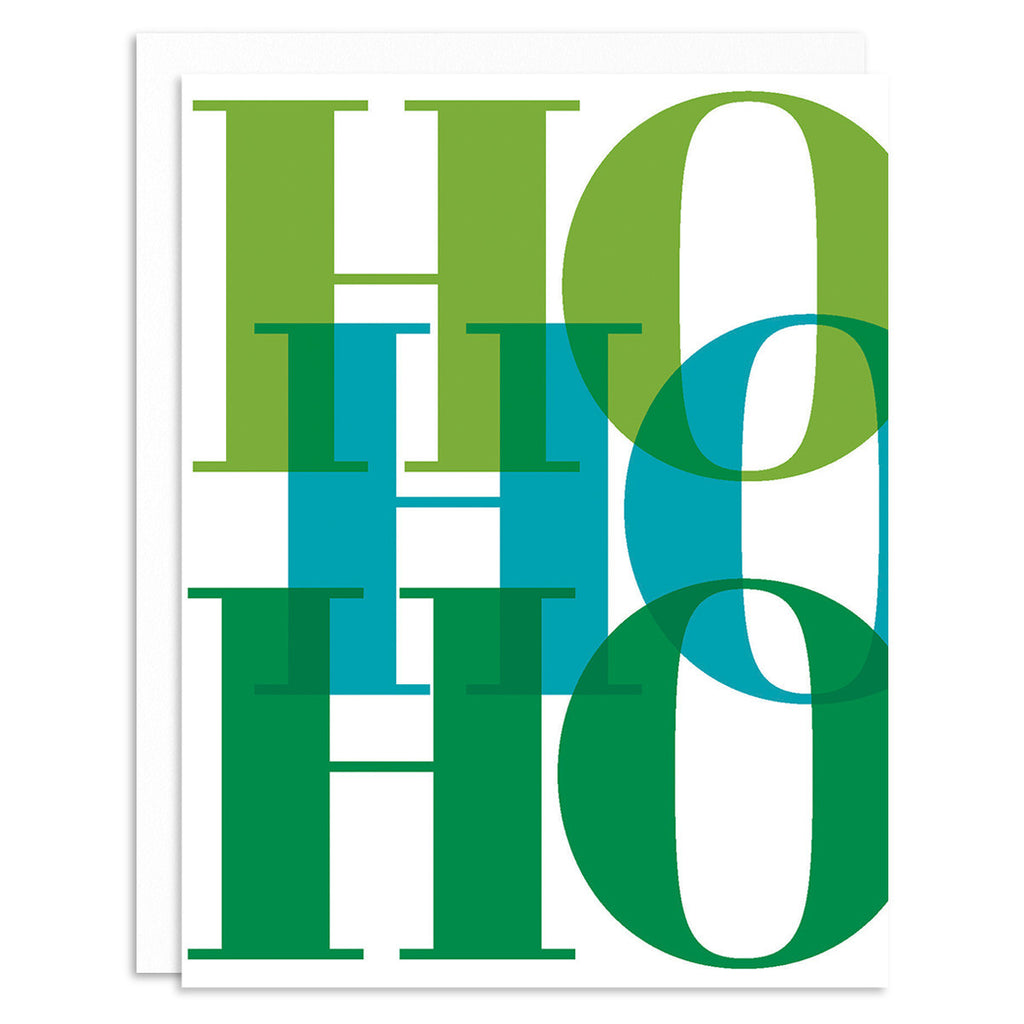 Ho Ho Ho Green Holiday Greeting Card Set