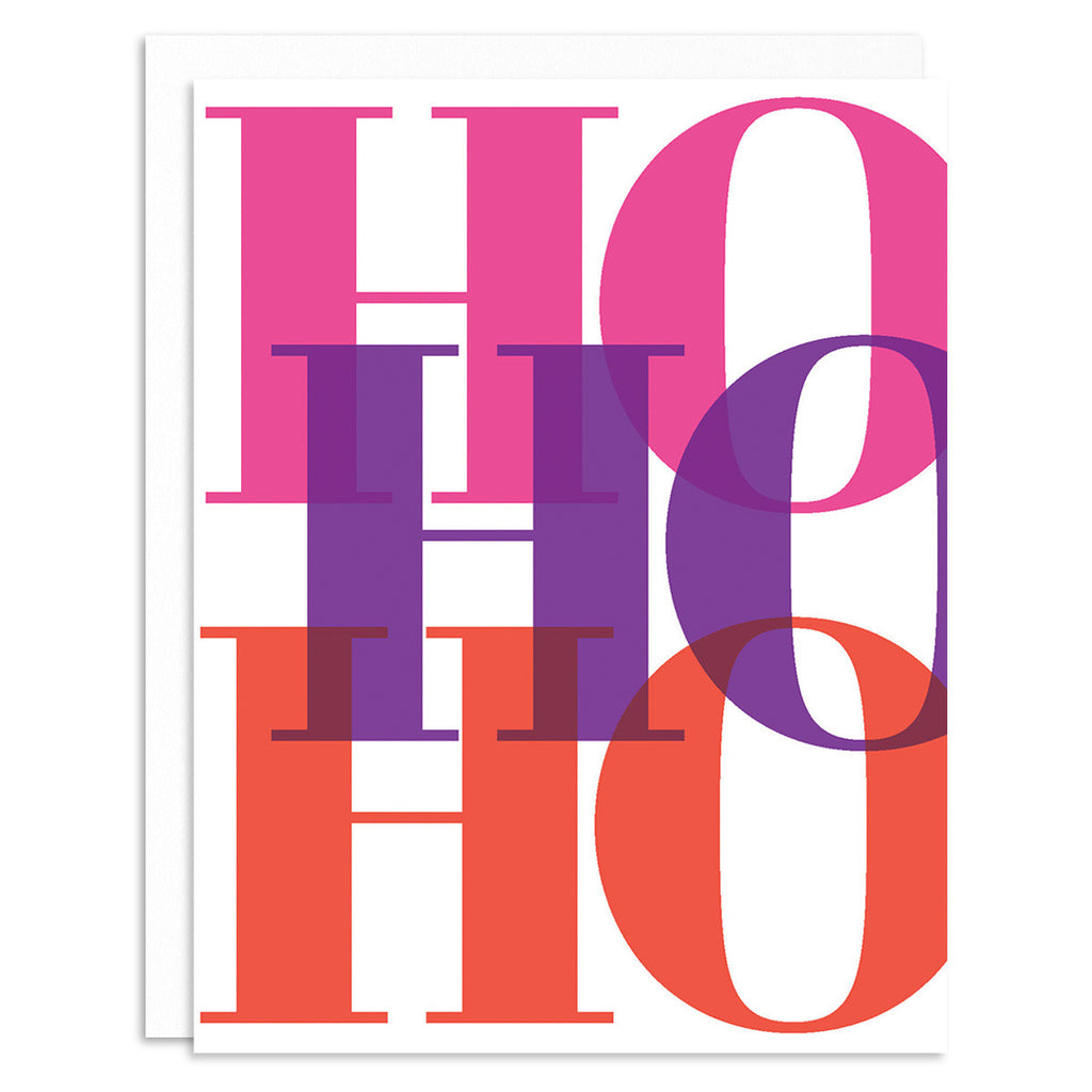 Ho Ho Ho Pink Holiday Greeting Card Set