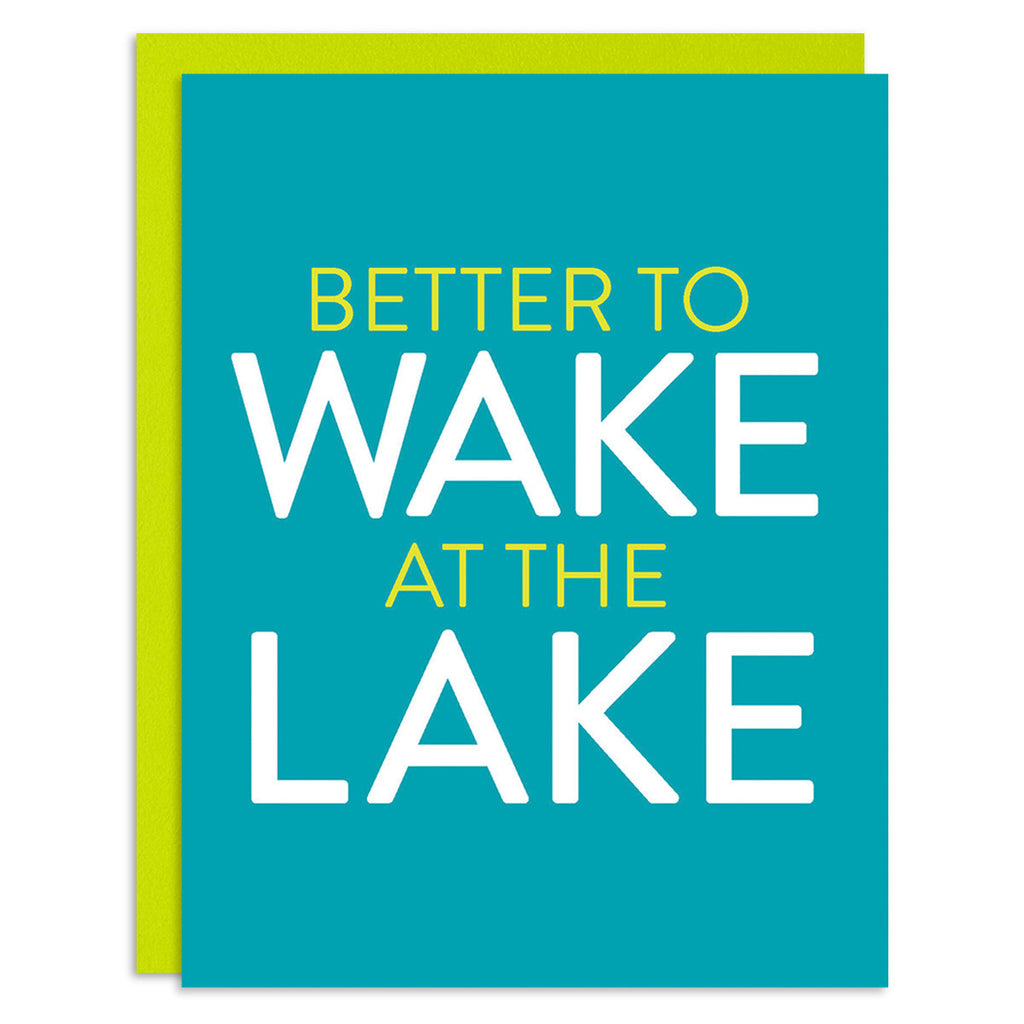 Wake at the Lake Greeting Card