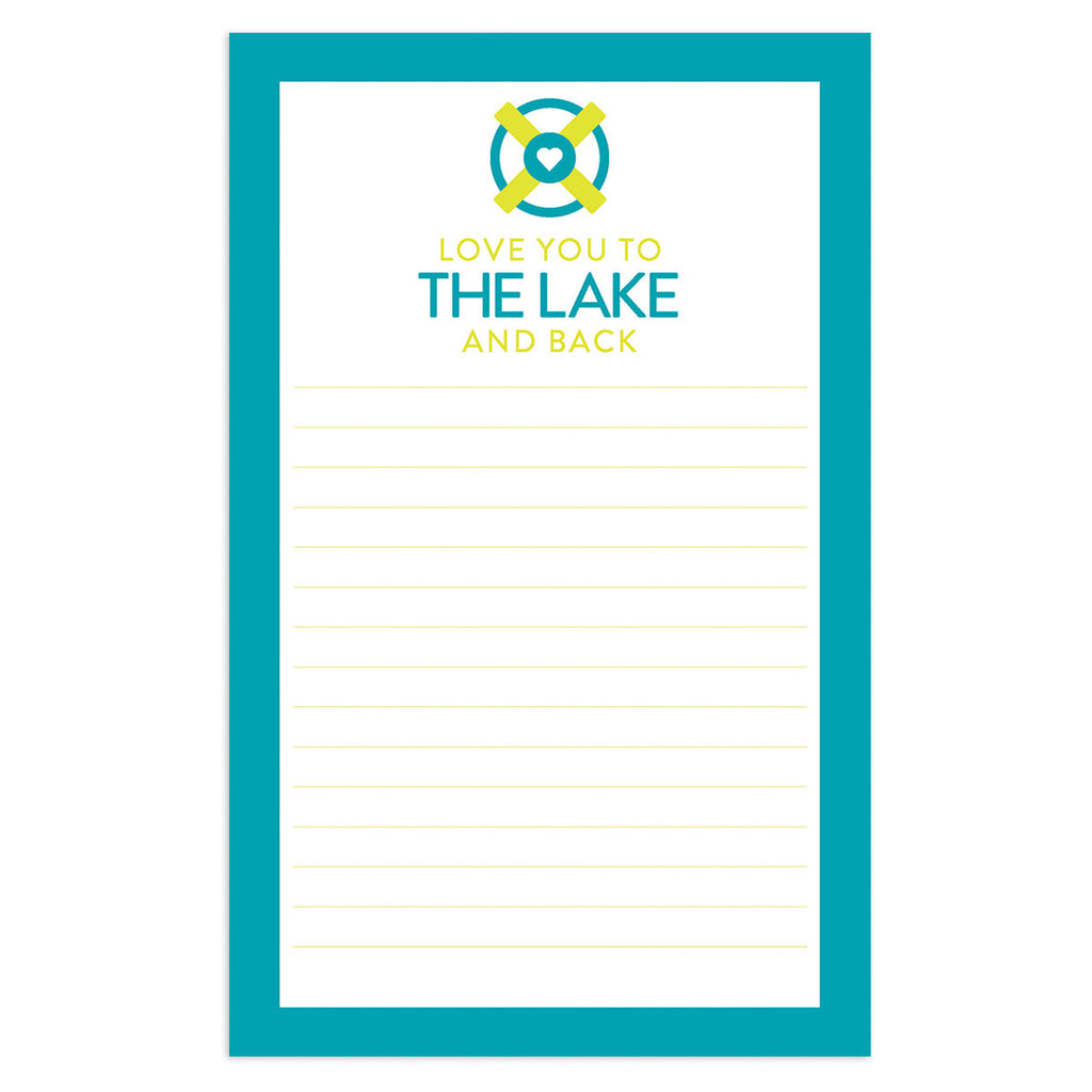 Love You to the Lake Notepad