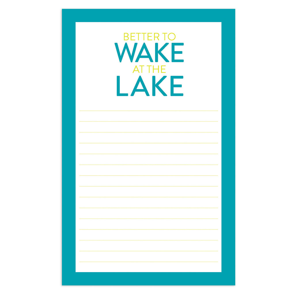 Wake at the Lake Notepad