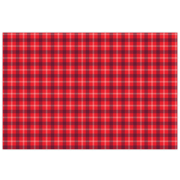Red Plaid Placemat Pads
