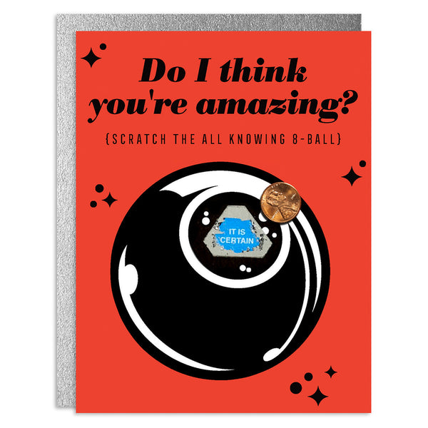 You're Amazing Scratch-Off Greeting Card