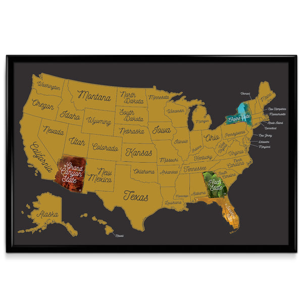 United States Map Picture Frame.Scratch Off United States Map Benjaminpop