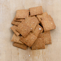 Simple wheat crackers