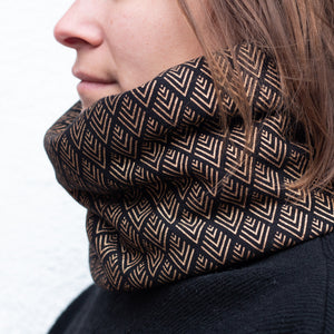 Foulard triangles dorés