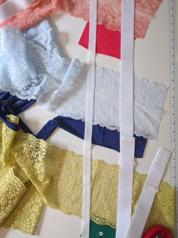Lace, jersey, elastic samples