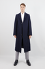 Curved Sleeve Wool Clutch Overcoat