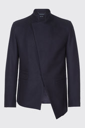 Asymmetrical Front Virgin Wool Jacket