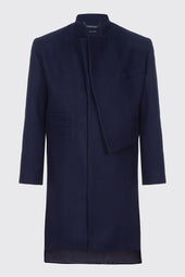 Asymmetrical Front Deconstructed Overcoat