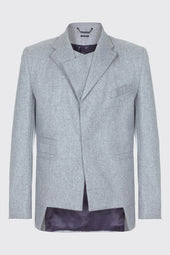Wool Blend Double Lapel Blazer