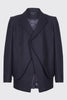 Layered Front Virgin Wool Blend Blazer