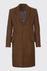 Wool Blend Classic Tailored Overcoat
