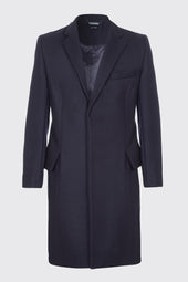 Virgin Wool Blend Classic Tailored Overcoat