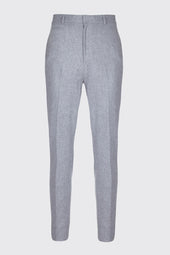Wool Blend Straight Leg Tailored Trousers