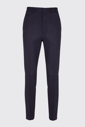 Virgin Wool Blend Straight Leg Tailored Trousers