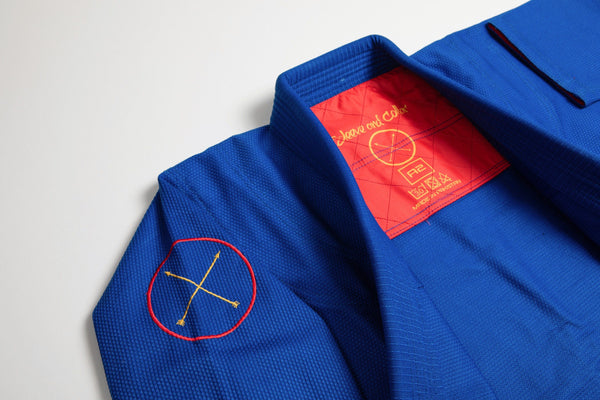 Sleeve and Collar | Blue Gi Red Insert