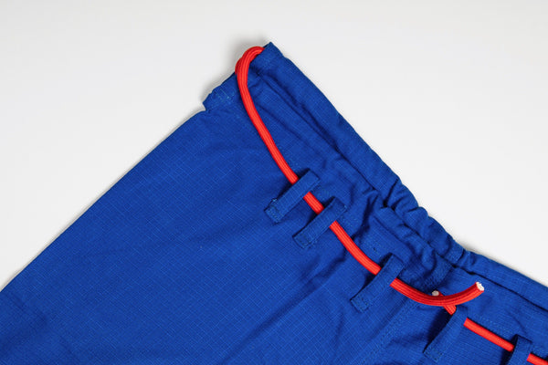 Sleeve and Collar | Blue Gi Pants Red Drawstring