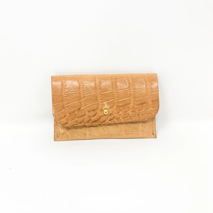 tan crocodile leather