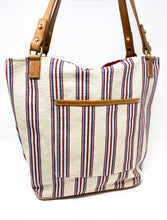 Load image into Gallery viewer, Americana Stripe Tote Bag