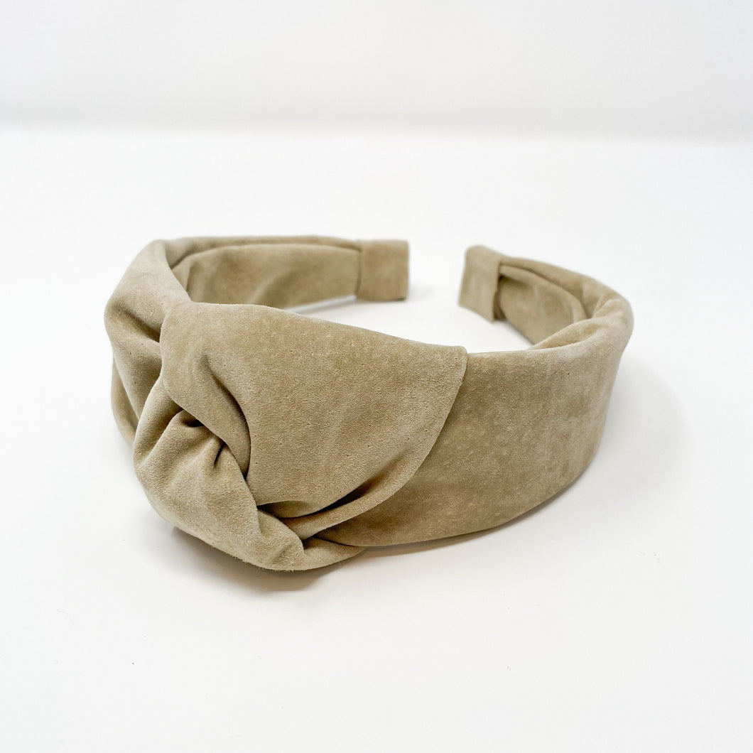 Leather Knot Headband