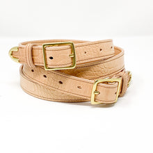 Load image into Gallery viewer, Croc Embossed Leather Belt