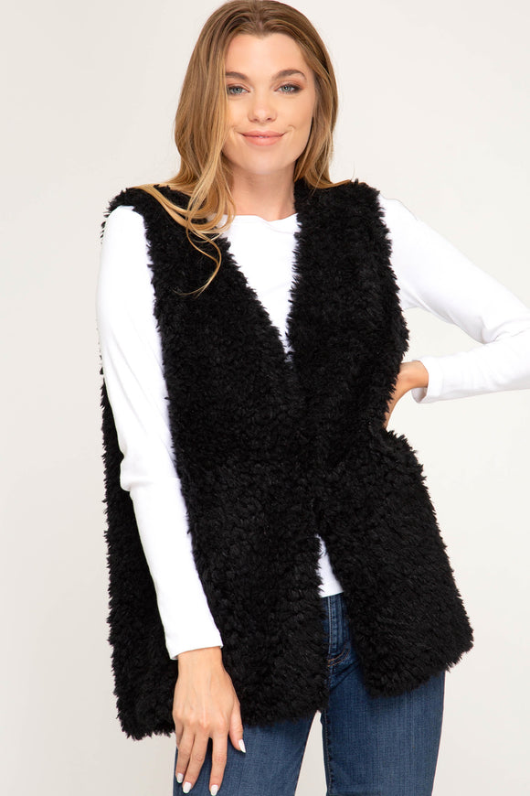 Lets Party Faux Fur Vest