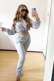 Drawstring Tracksuit - Grey