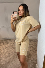 JYY Summer Club Short Set - Beige