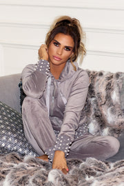 Pearl Hem Tracksuit - Grey PREORDER 12TH MARCH