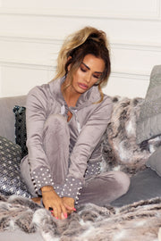 Pearl Hem Tracksuit - Grey PREORDER 8TH FEB