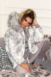 JYY Tie Dye Coat - Grey PREORDER 30TH OCT