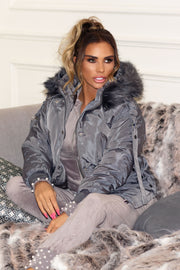 JYY Bomber Coat - Grey PREORDER 30TH OCT