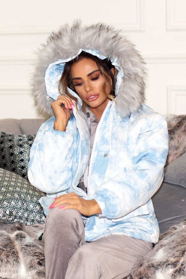 JYY Tie Dye Coat - Blue PREORDER 30TH OCT