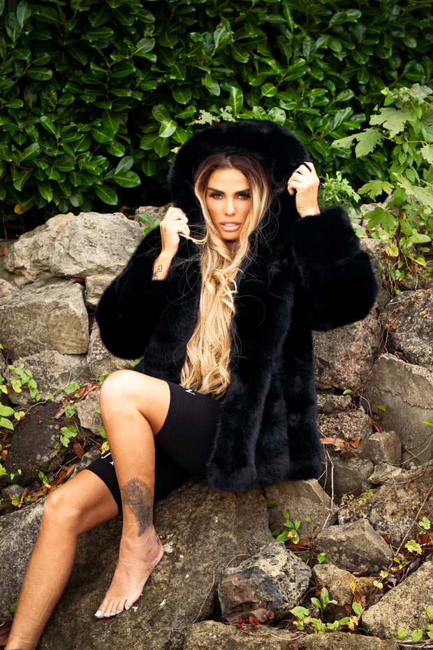 JYY Faux Fur Coat - Black
